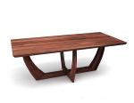 Brown wooden dining table 3d model